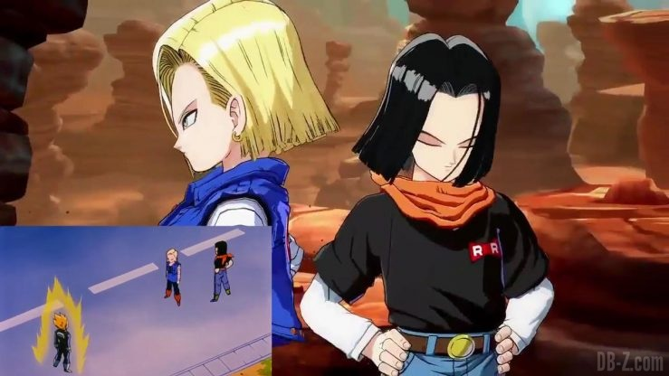DBFighterZ Android 17 18 comparaison manga anime 1