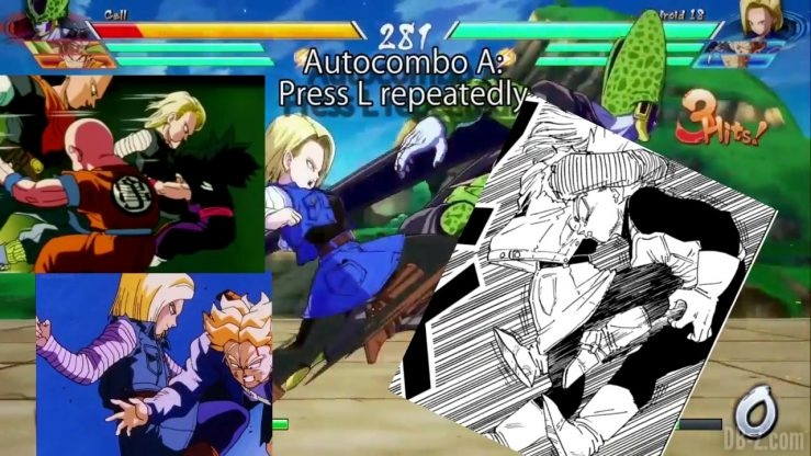 DBFighterZ Android 17 18 comparaison manga anime 19