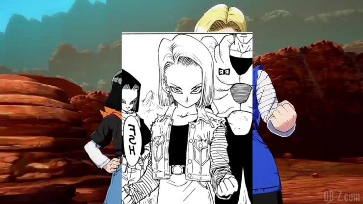 DBFighterZ Android 17 18 comparaison manga anime 2