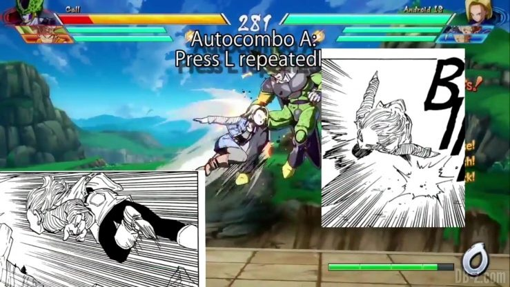DBFighterZ Android 17 18 comparaison manga anime 20