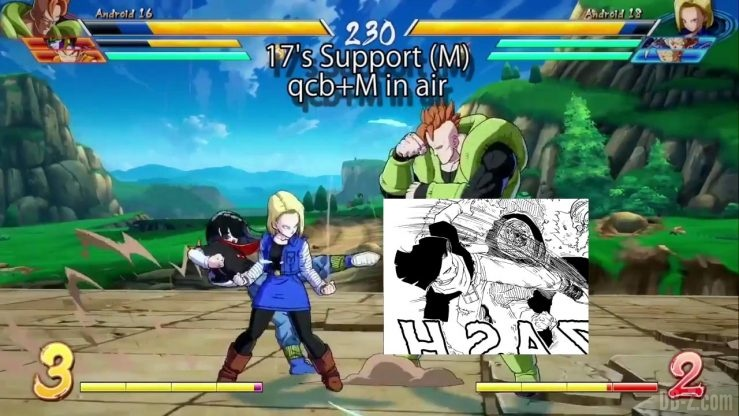 DBFighterZ Android 17 18 comparaison manga anime 30