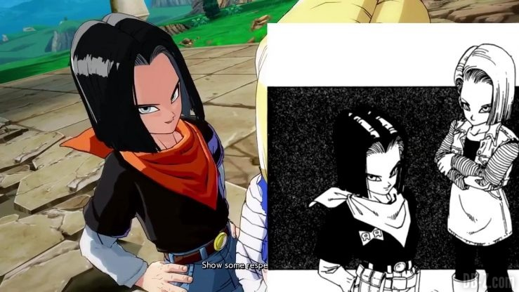 DBFighterZ Android 17 18 comparaison manga anime 48