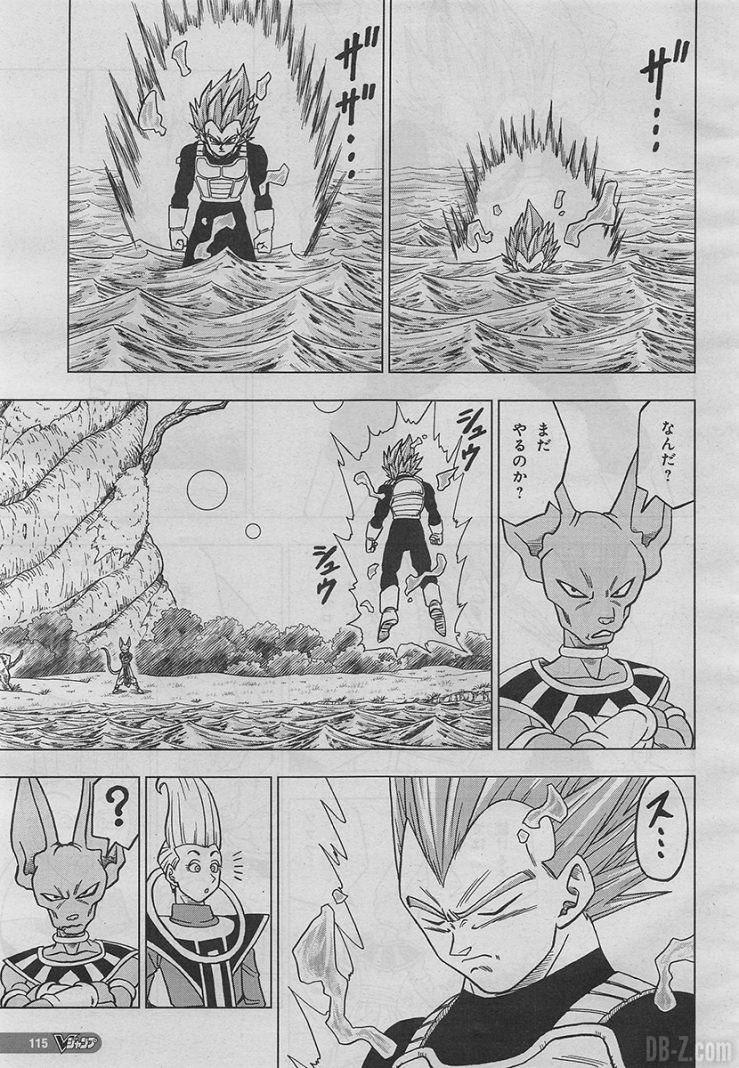 Dragon Ball Super Capítulo 27 fugas Vegeta vs Beerus (3)