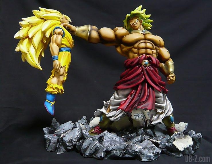 Résine Broly vs Goku Super Saiyan 3 (Fan-art)