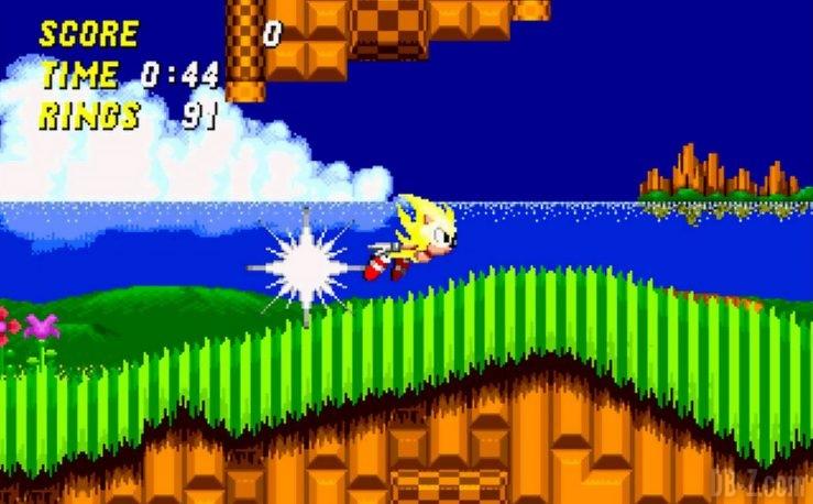 Super Sonic dans Sonic 2
