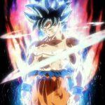 Transformation Goku god yeux argent