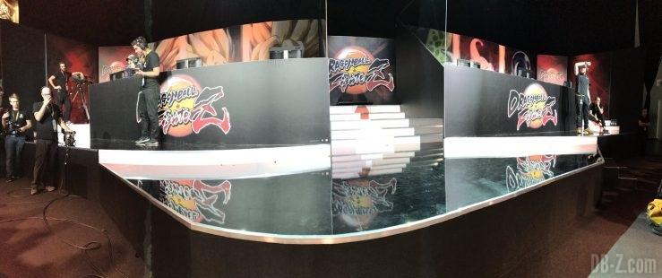 Vue panoramique du tournoi Dragon Ball FighterZ