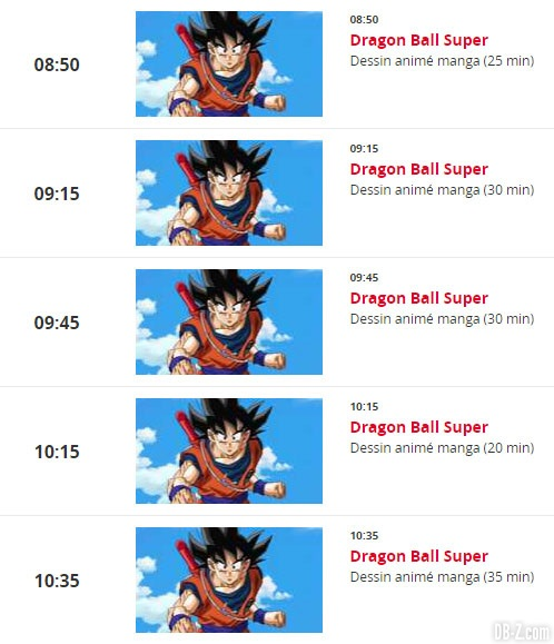Dragon Ball Super (Programme NT1 10.09.2017)