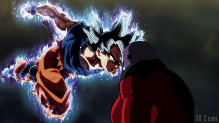 Dragon Ball Super Episode 109 110 332 Goku Ultra Instinct Yeux Argentes Jiren