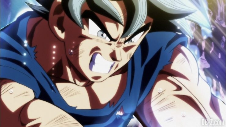 Dragon Ball Super Episode 109 110 344 Goku Ultra Instinct Yeux Argentes