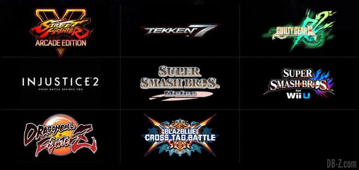 Liste des jeux de l'EVO 2018
