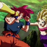 Dragon Ball Super Episode 114 0112 Goku Super Saiyan God Caulifla