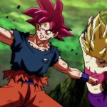 Dragon Ball Super Episode 114 0113 Goku Super Saiyan God Caulifla