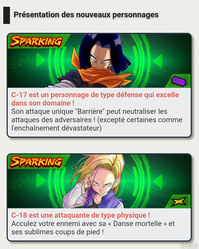 C-17 et C-18 Dragon Ball Legends