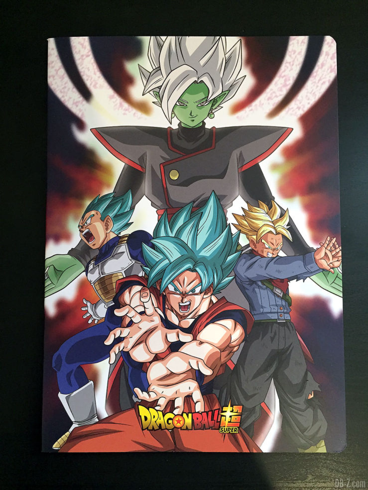 Cahier piqué A4 96 pages - 4 visuels assortis - Dragon Ball Super