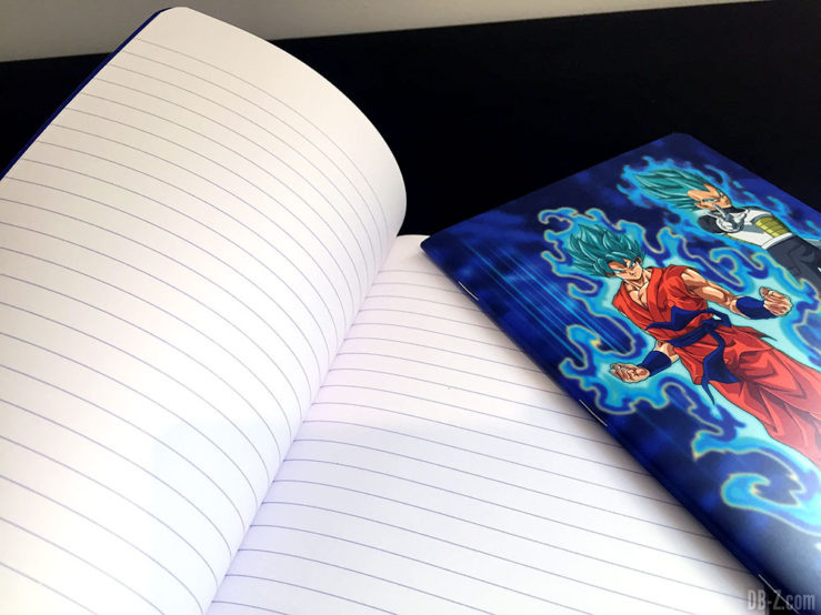 Cahier piqué A5 96p L, 3 visuels assortis - Dragon Ball Super 12