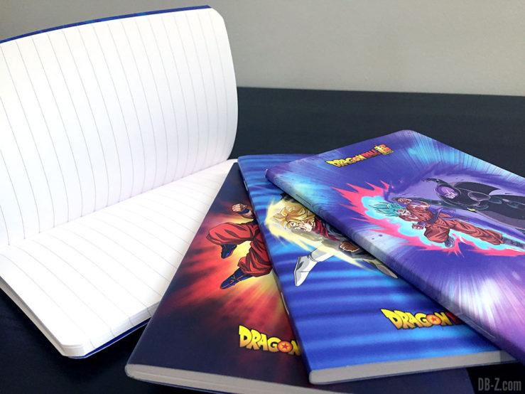 Carnet piqué 11x17cm 96p L +él, 4 visuels assortis - Dragon Ball Super