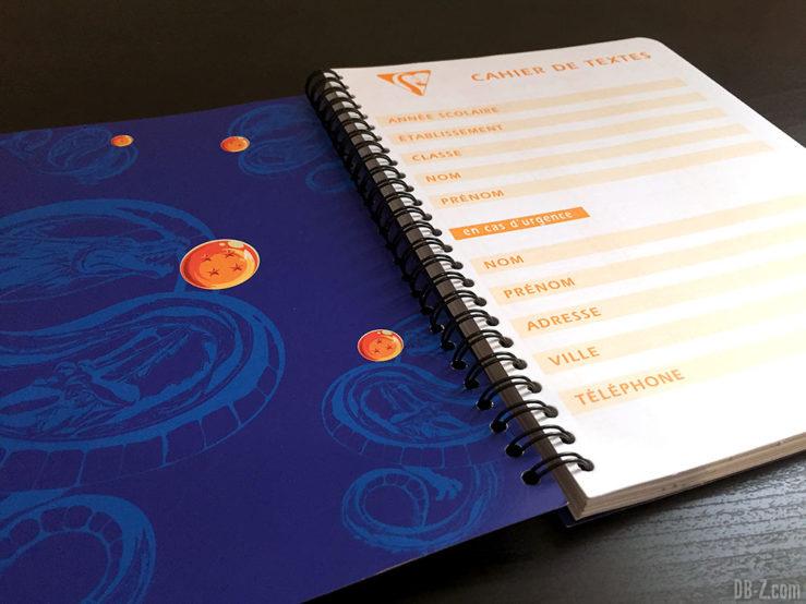 Cahier textes RI 17 x 22cm 152 pages Dragon Ball Super 5