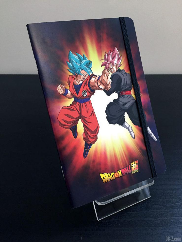 Carnet piqué 11x17cm 96p L +él, 4 visuels assortis - Dragon Ball Super 3