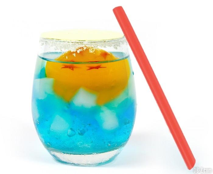 "Soda ""Sur Terre, il y a Goku"" (780 yen / 6 €)"