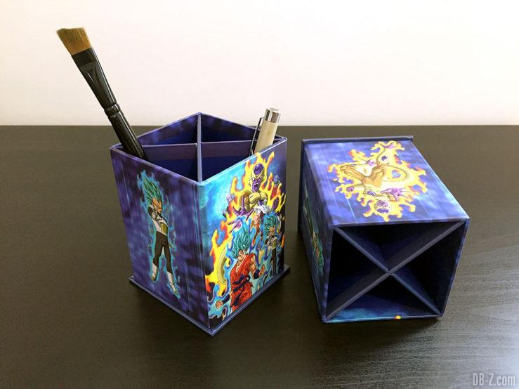 Pot à crayon rect.8x8x11,5cm , Resurrection - Dragon Ball Super