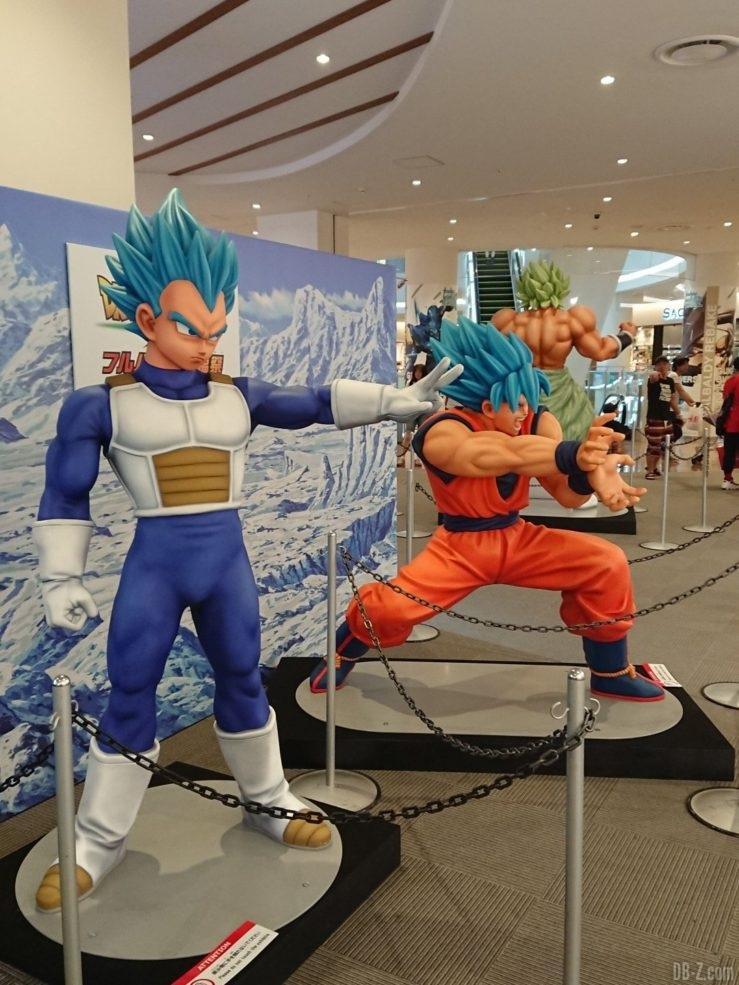 Statues Goku, Vegeta, Broly