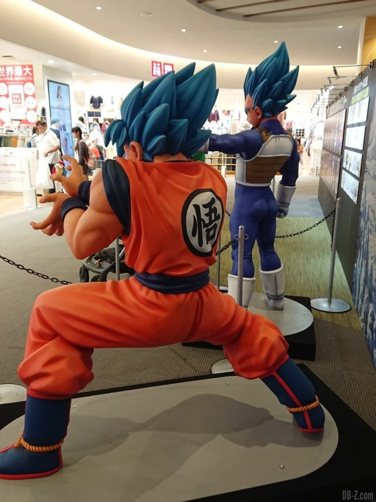Statues de Goku et Vegeta