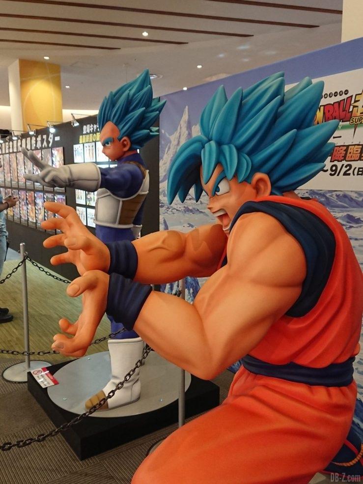 Statues de Vegeta et Goku SSGSS