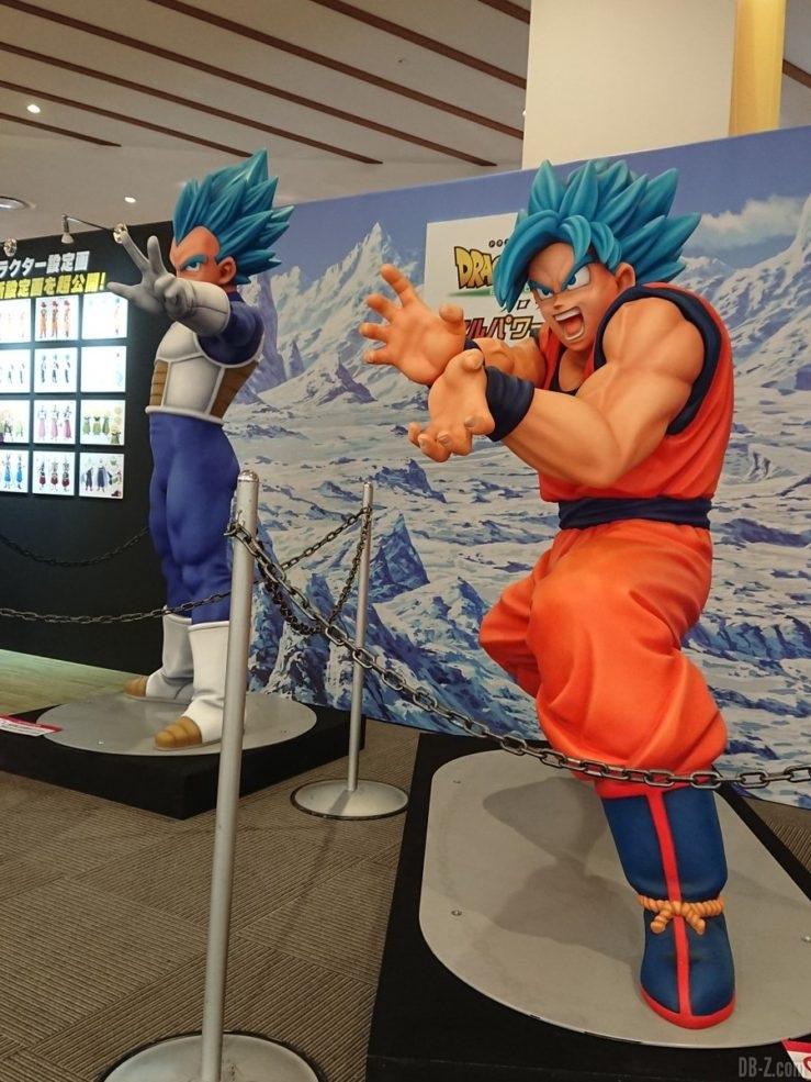 Statues de Vegeta et Goku Super Saiyan Blue