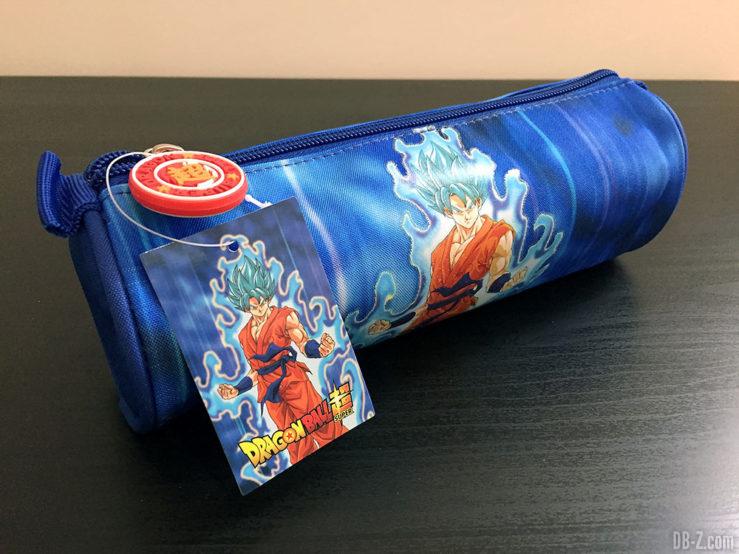 Trousse ronde 7 x 22cm Goku Bleu, Dragon Ball Super - Goku SSGSS 3