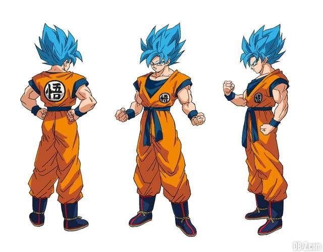 Charadesign de Son Goku Super Saiyan Blue (Naohiro Shintani)