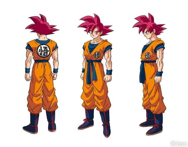 Charadesign de Son Goku Super Saiyan God (Tatsuya Nagamine)