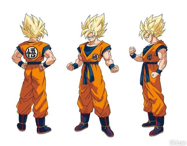 Charadesign de Son Goku Super Saiyan (Naohiro Shintani)