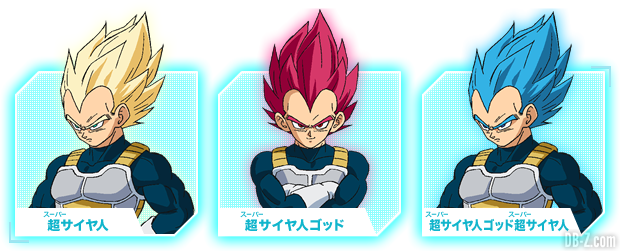 Charadesign de Vegeta transformé (Film DBS Broly)