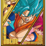 Dragon Ball Carddass COMPLETE BOX 37 & 38 - Carte Gold Goku SSGSS