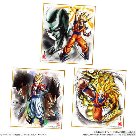 Dragon Ball Shikishi Art 6 - Metal Cooler, Gogeta, Goku SS3
