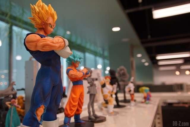 Shintani s'aide parfois des figurines Dragon Ball