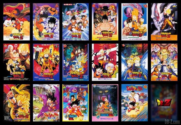 Tous les films Dragon Ball Z des années 80-90