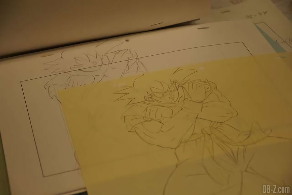 Croquis de Goku pour le film Dragon Ball Super Broly