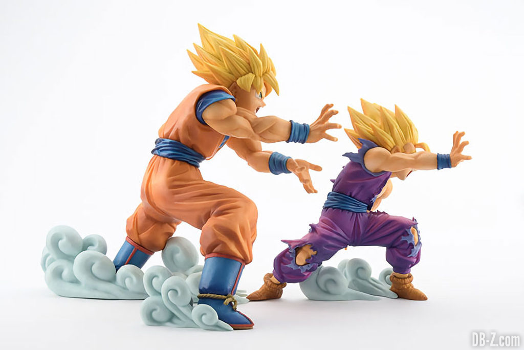 Figurine Dragon Ball 'VS Existence' Goku & Gohan Kamehameha (côté)