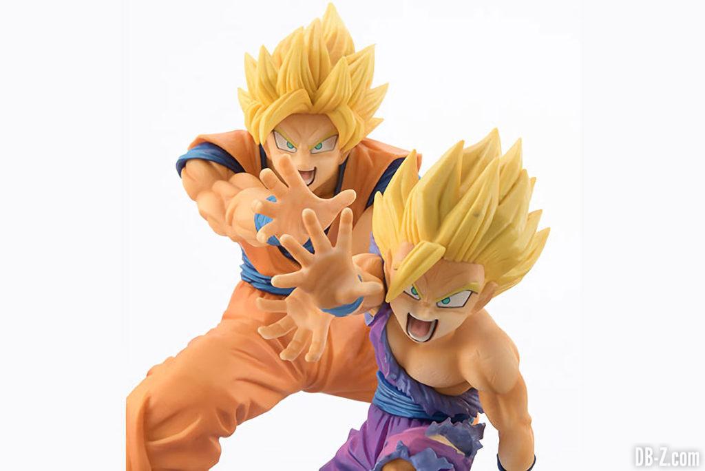 Figurine Dragon Ball 'VS Existence' Goku & Gohan Kamehameha (face)