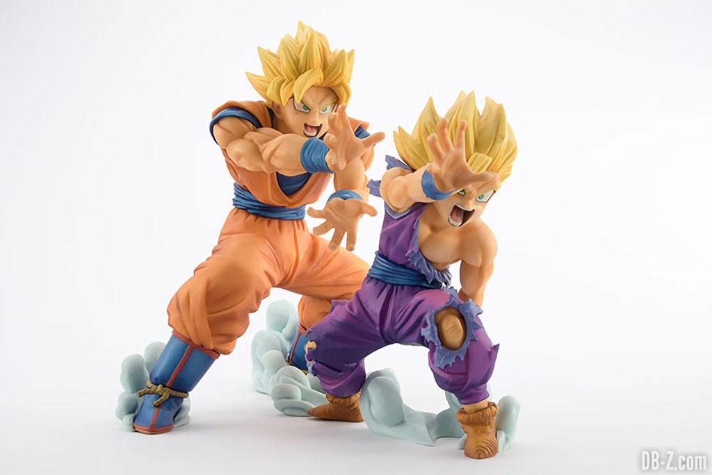 Figurine Dragon Ball 'VS Existence' Goku & Gohan Kamehameha (profil)