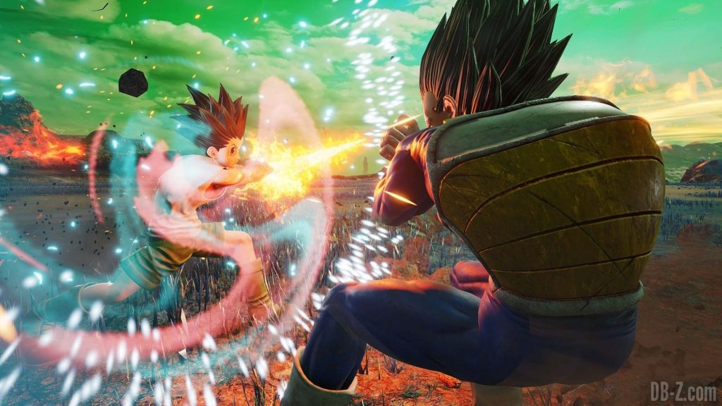 Jump Force - Vegeta vs Gon Freeks