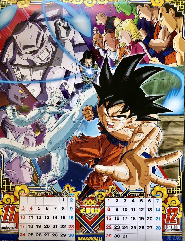 Calendrier Dragon Ball 2019 Japon - Novembre Décembre