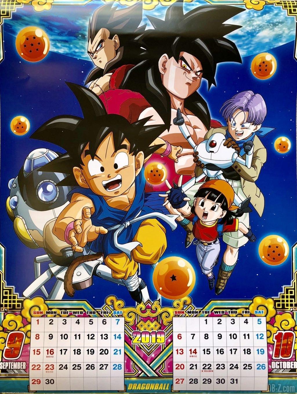 Calendrier Dragon Ball 2019 Japon - Septembre Octobre