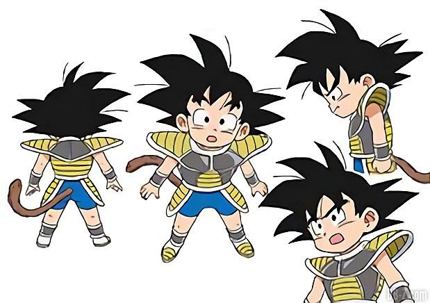 Charadesign de Goku enfant (2018)
