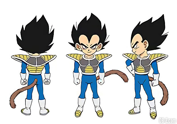 Charadesign de Vegeta enfant (2018)