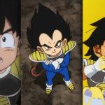Goku Vegeta, et Broly enfants