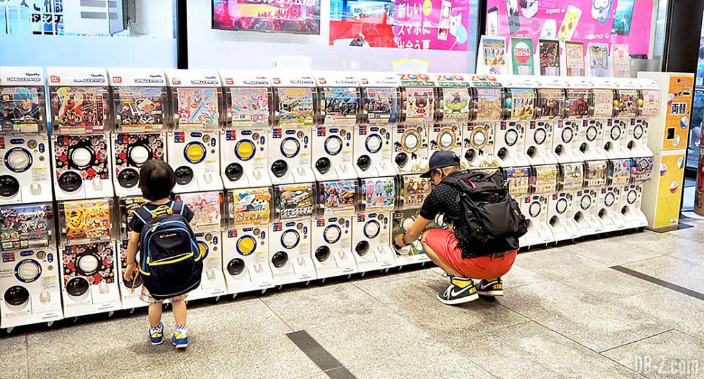 Gashapon au Japon