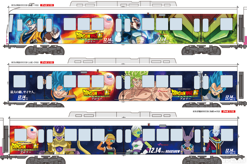 Dragon Ball Super Broly Train (Déco 1)